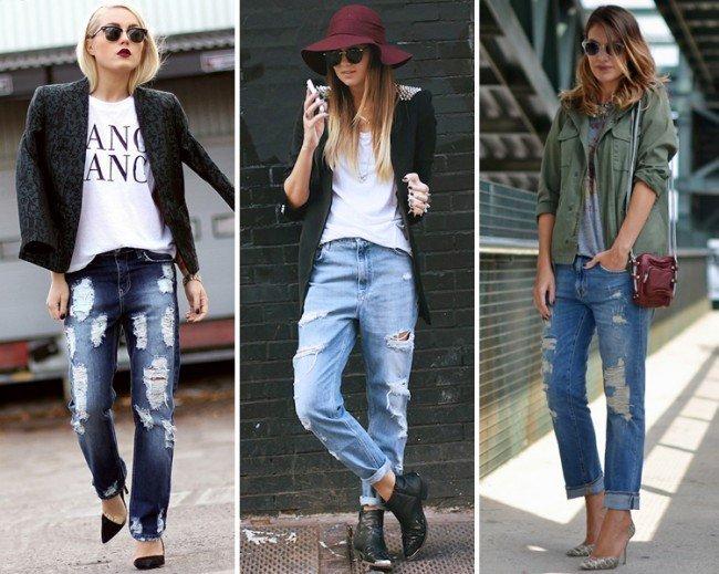 дырявые джинсы