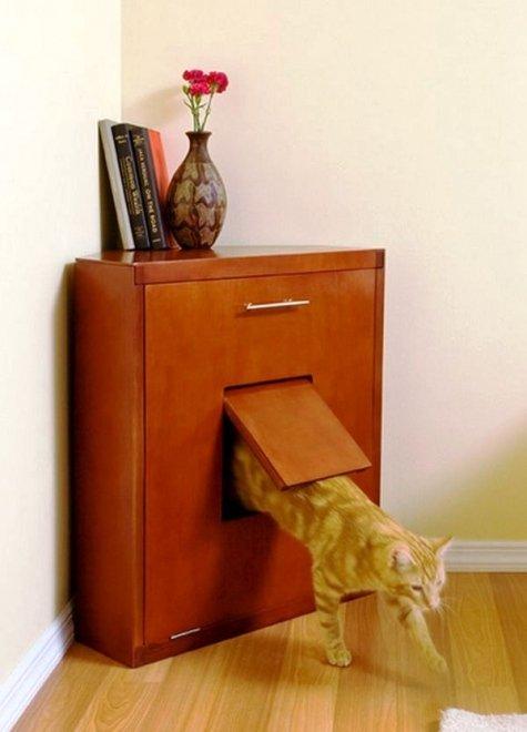 Туалет-домик для кошек своими руками - Первая школа Юла