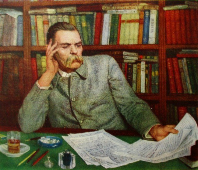 портрет М.Горького