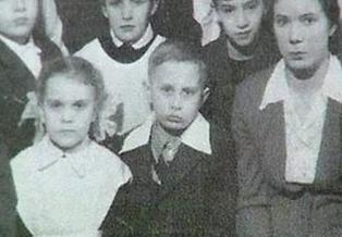 Путин, будущий президент, в школьные годы