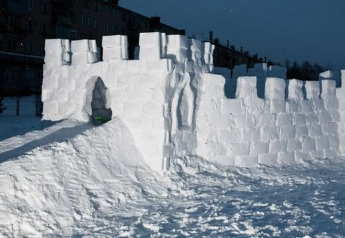 Крепость из снега
