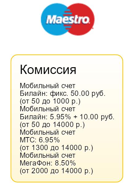 Комиссия за перевод денег со счета мобильного оператора на банковскую карту.