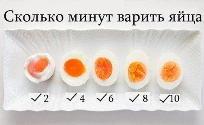 Сколько минут варить куриные яйца?