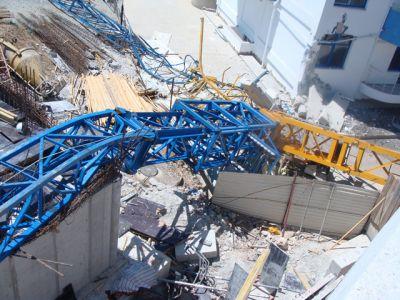 опасность падения башенного крана