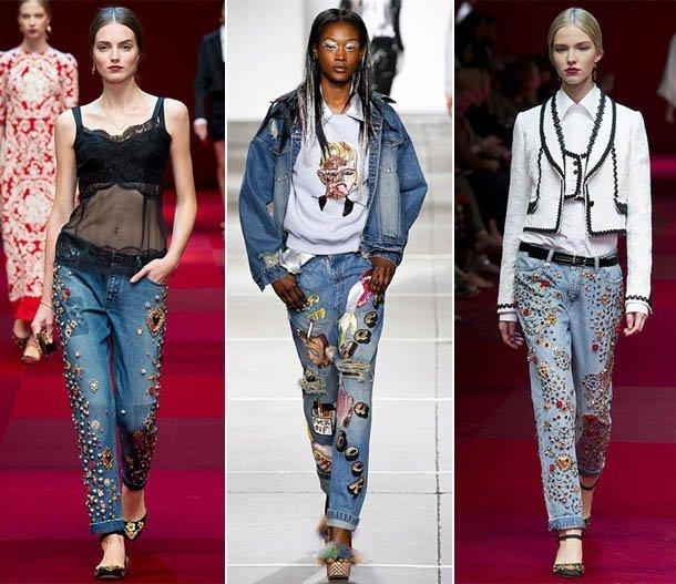 разрисованные джинсы