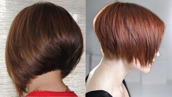 Стрижка каре на короткие волосы 2017-2018 вид сзади