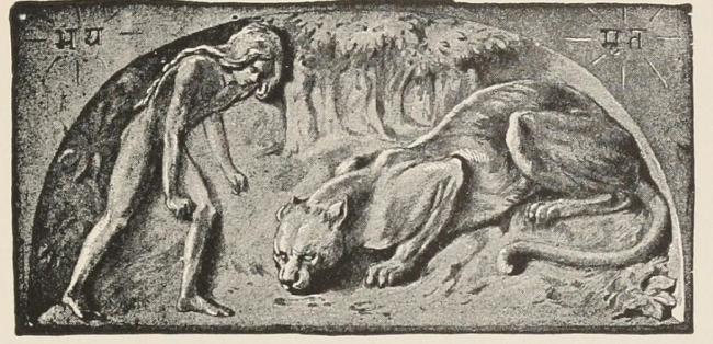 Багира и Маугли. «Книга Джунглей». 1895 год