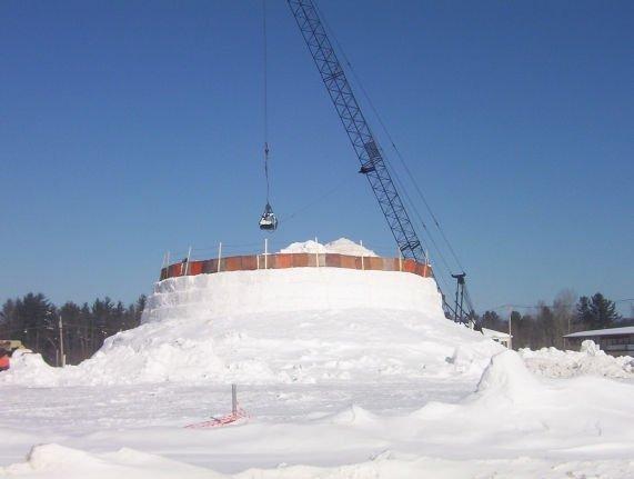Какой самый большой снеговик был вылеплен?