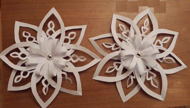 Объемные бумажные снежинки