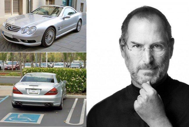 Стив Джобс ездил на автомобиле без номеров