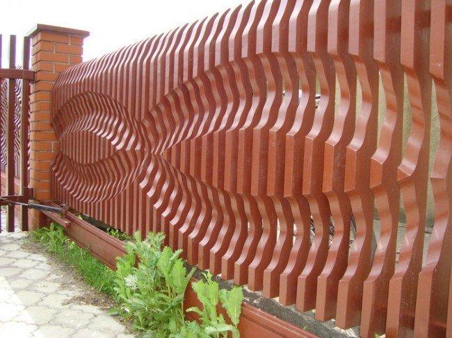 Деревянный забор - вариация