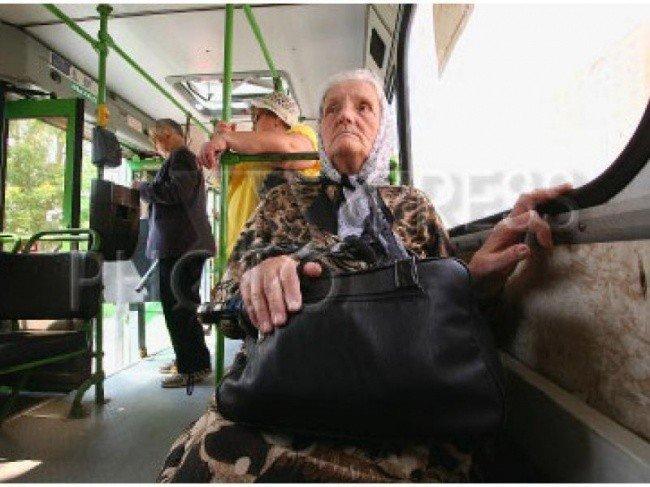 пенсионер в маршрутке
