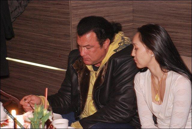 Стивен Сигал и Эрдэнэтуяа Бацук