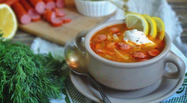 Рецепт супа солянка с копченой колбасой рецепт пошагово