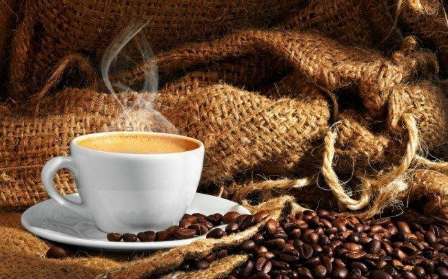 Кофе, чашка кофе на завтрак