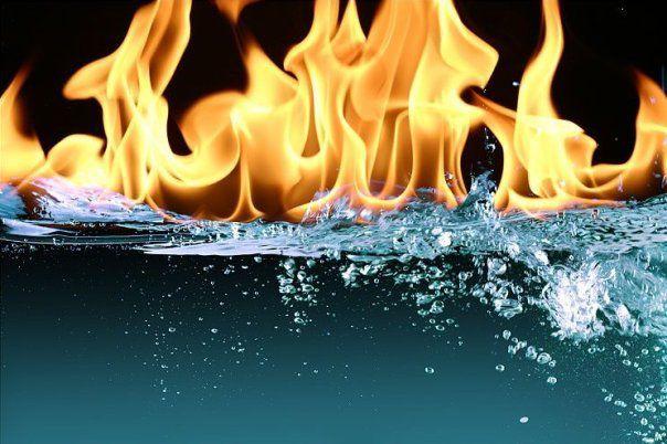 вода не горит