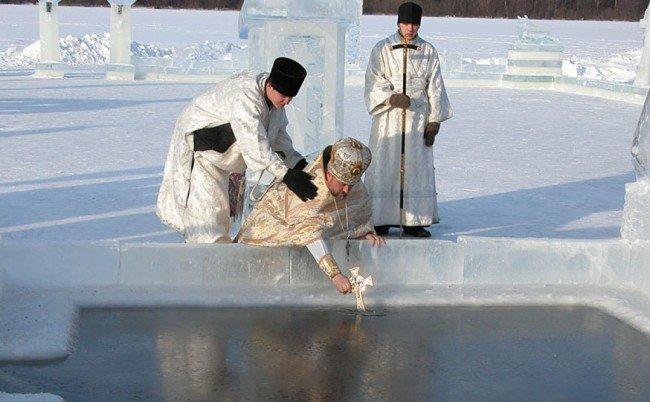 Прорубь в Крещение