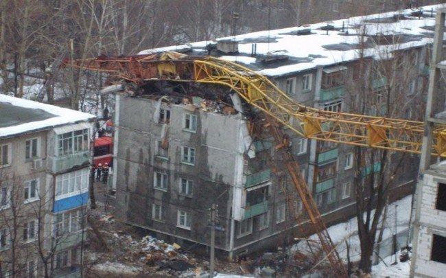 падение башенного крана