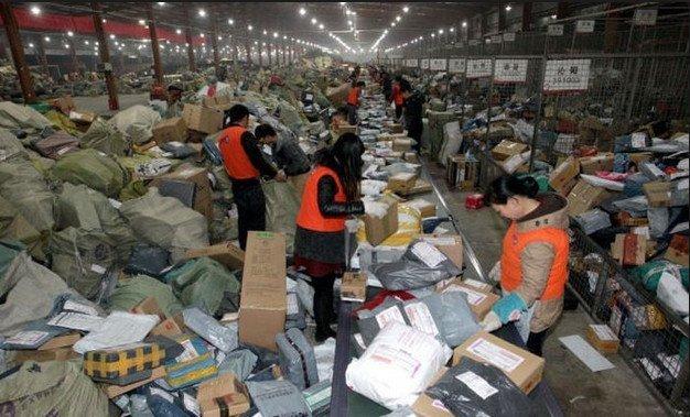 Почта, обработка посылок