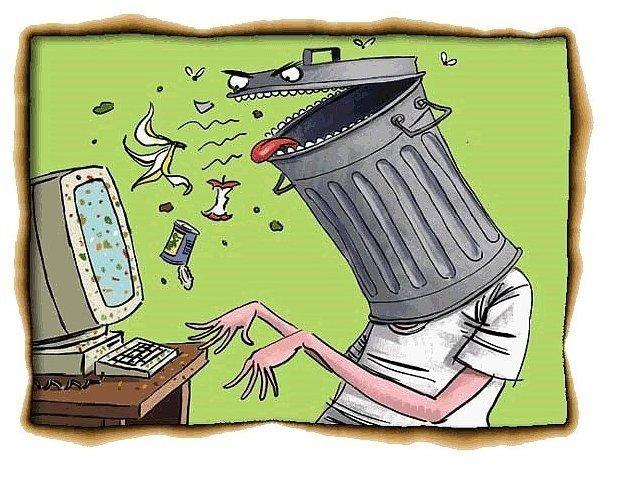 интернет и мусор и значение слова троллить