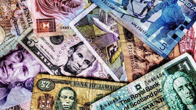 самые разнообразные бумажные банкноты