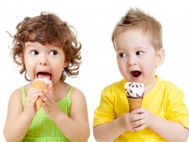 В каком возрасте детям можно дать мороженое