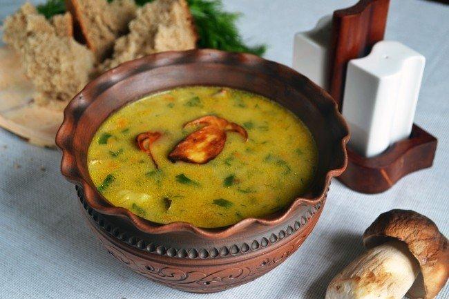 Грибной суп с боровиками