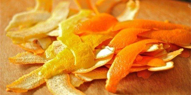 корки от мандаринов