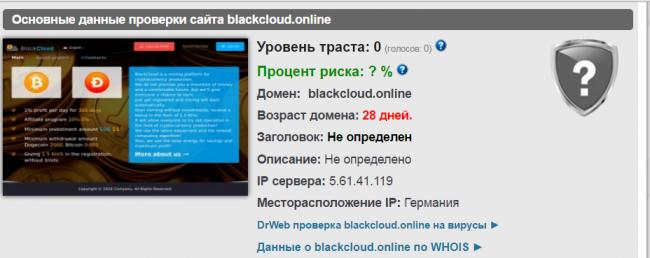 Какие отзывы о сайте blackcloud?