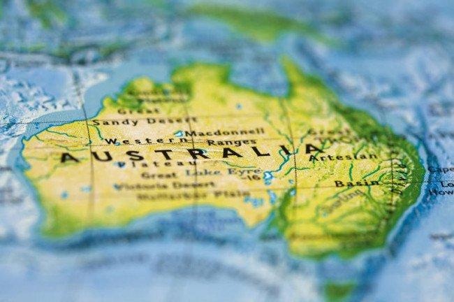 Австралия на карте.