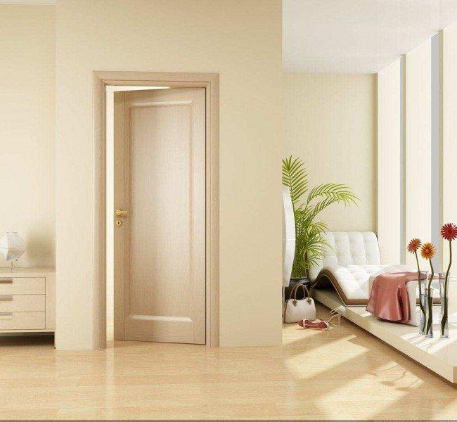 Дверь белого цвета