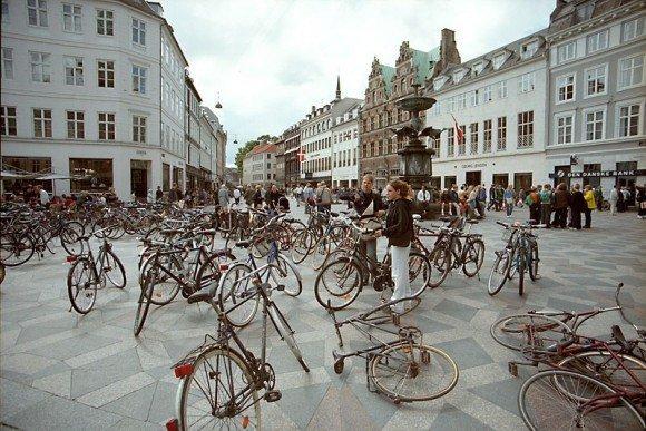 Копенгаген и велосипедисты
