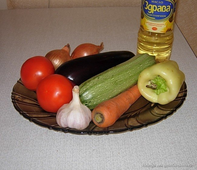 продукты для овощного рагу