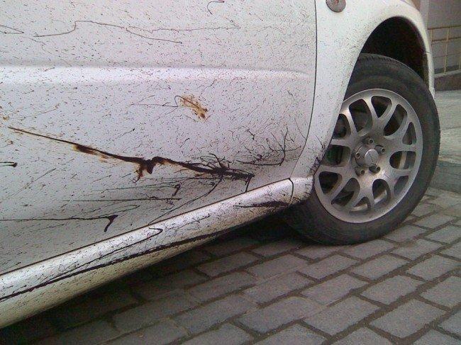 смола на автомобиле