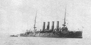 """Крейсер """"Варяг"""" после боя с японской эскадрой."""