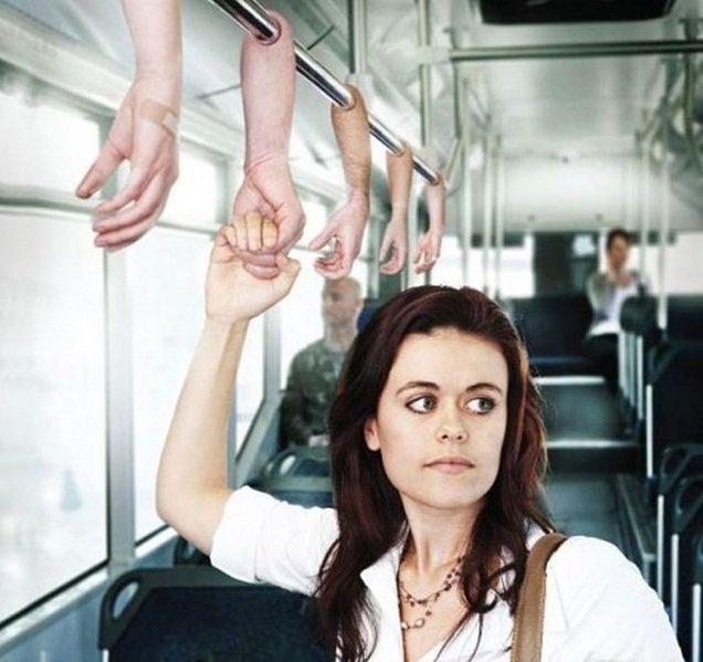 поручни в автобусе