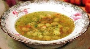 суп из ревеня с манными клёцками