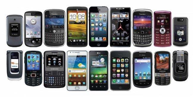 ассортимент телефонов
