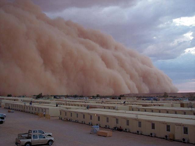 Хамсин - это очень сильный, жаркий и изнуряющий пустынный ветер