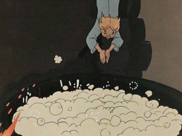 какой котел был в сказке ершова конек горбунок - котел с молоком