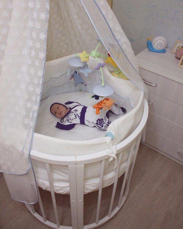круглая кроватка для ребенка