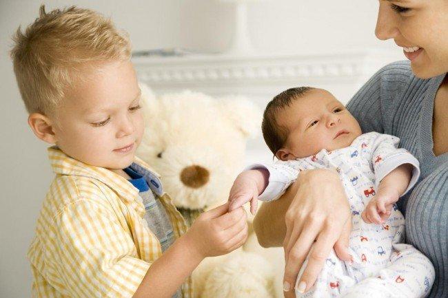 второй ребенок и первый - детская ревность