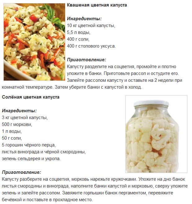 рецепты заготовок из капусты белокочанной