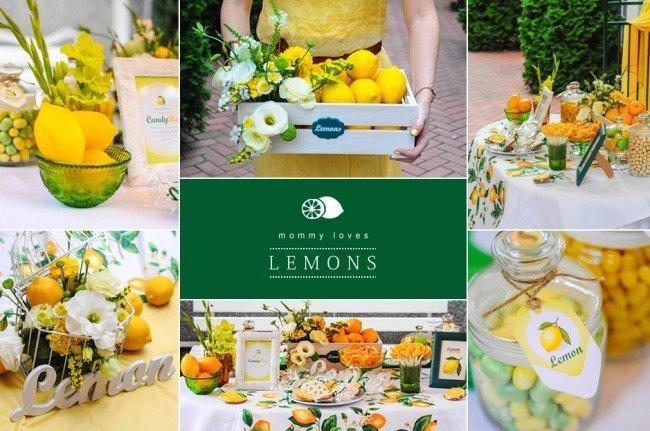 Лимонная вечеринка - что подается к столу