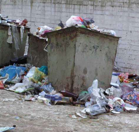 типичный мусорный бак