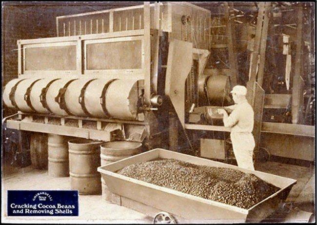 появление первой плитки шоколада