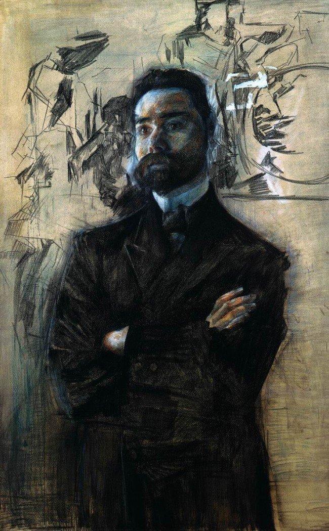 портрет В. Я. Брюсова Врубель