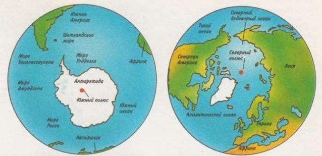 Где находятся южный полюс
