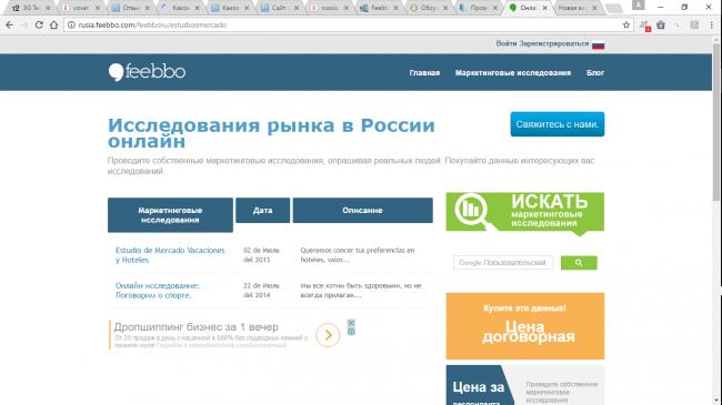 Каковы отзывы об опроснике russia.feebbo.com?
