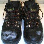 Соль на обуви.